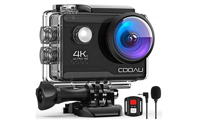 COOAU 4K Wifi Fotos de 20MP + 1 kit para bicicleta